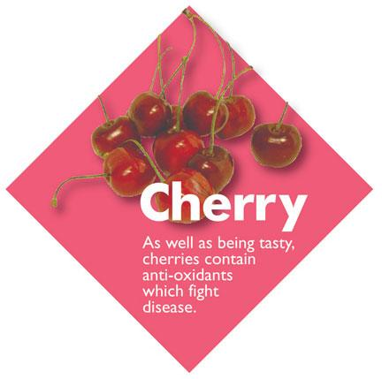 Fruit Diamond Signs - Cherry