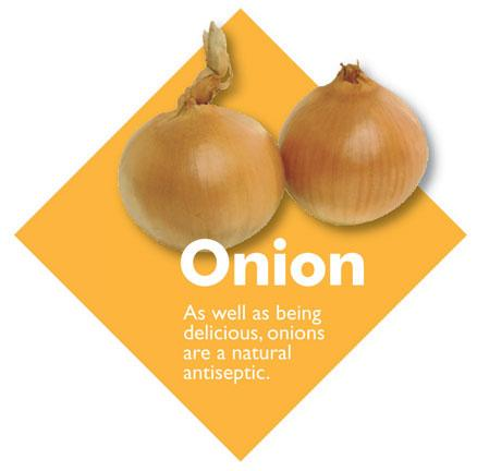 Vegetable Diamond Signs - Onion / Large