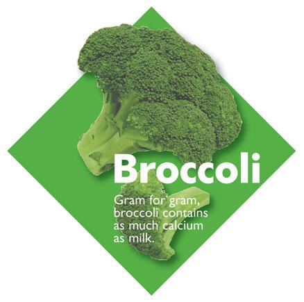 Vegetable Diamond Signs - Broccoli / Large