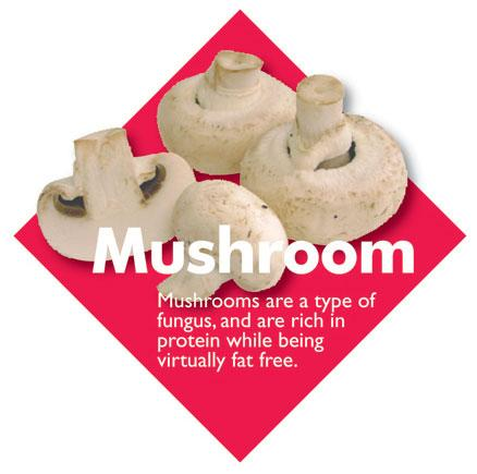 Vegetable Diamond Signs - Mushroom / Large
