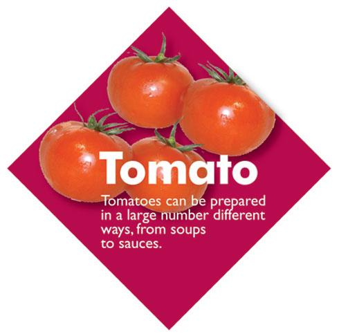 Vegetable Diamond Signs - Tomato / Large