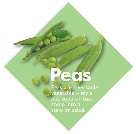 Vegetable Diamond Signs Peas