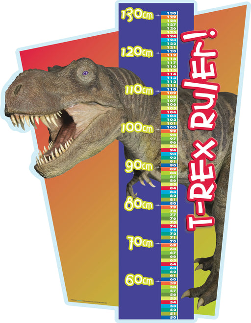 T Rex Ruler Sign Metric only