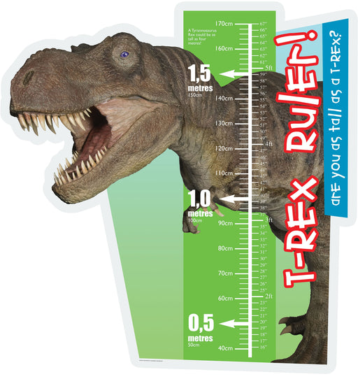 T Rex Ruler sign Metric and Imperial
