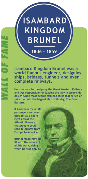 Famous Faces Signs Isambard Kingdom Brunel