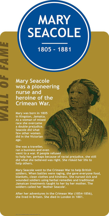 Famous Faces Signs Mary Seacole