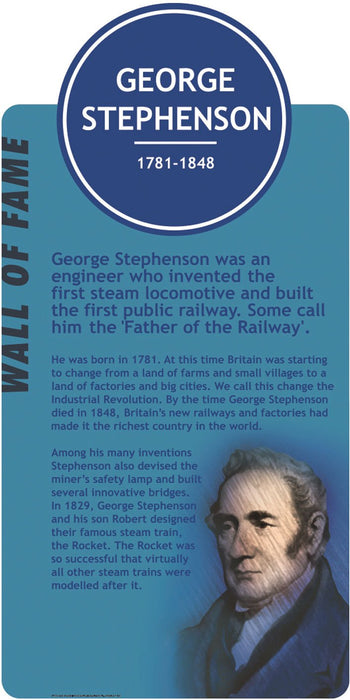 Famous Faces Signs George Stephenson