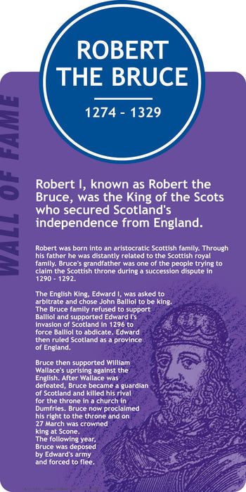Famous Faces Signs Robert the Bruce