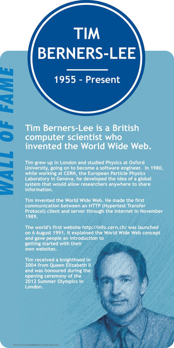 Famous Faces Signs Tim Berners-Lee