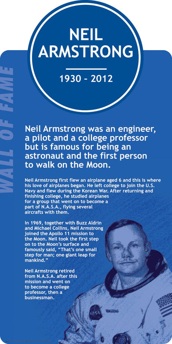 Famous Faces Signs Neil Armstrong