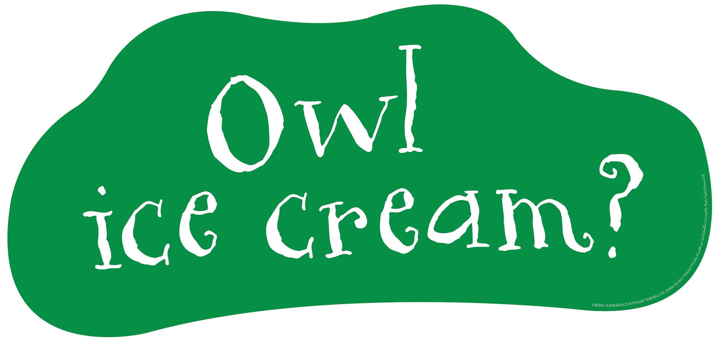 Gruffalo Quote 'Owl ice cream...'