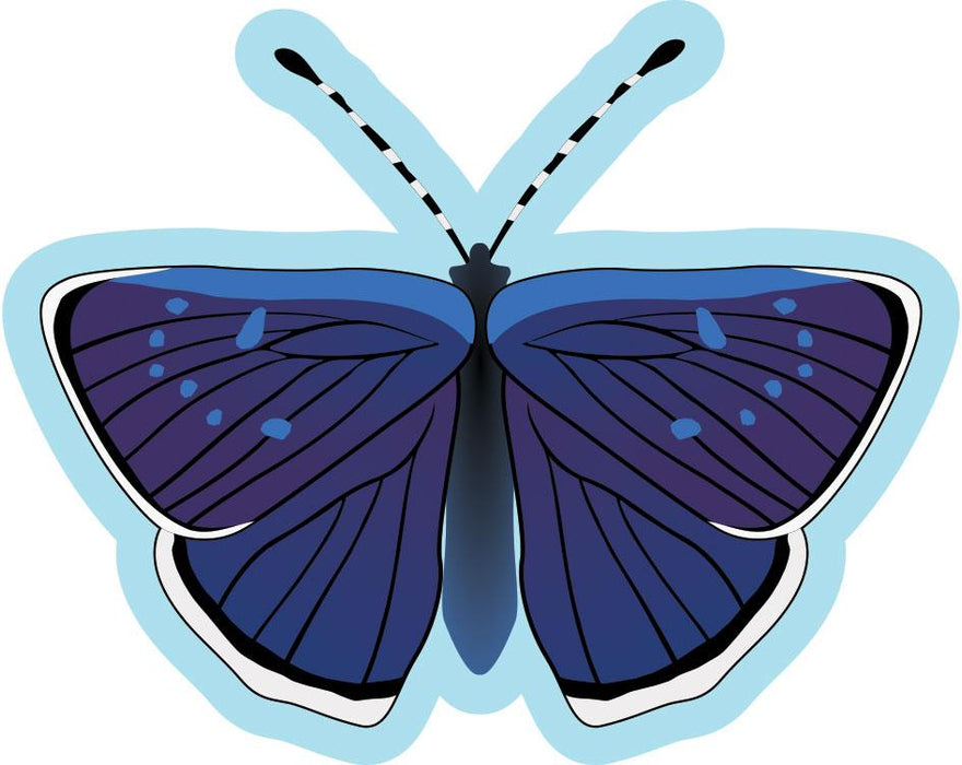 Butterfly Sign  Dark Blue