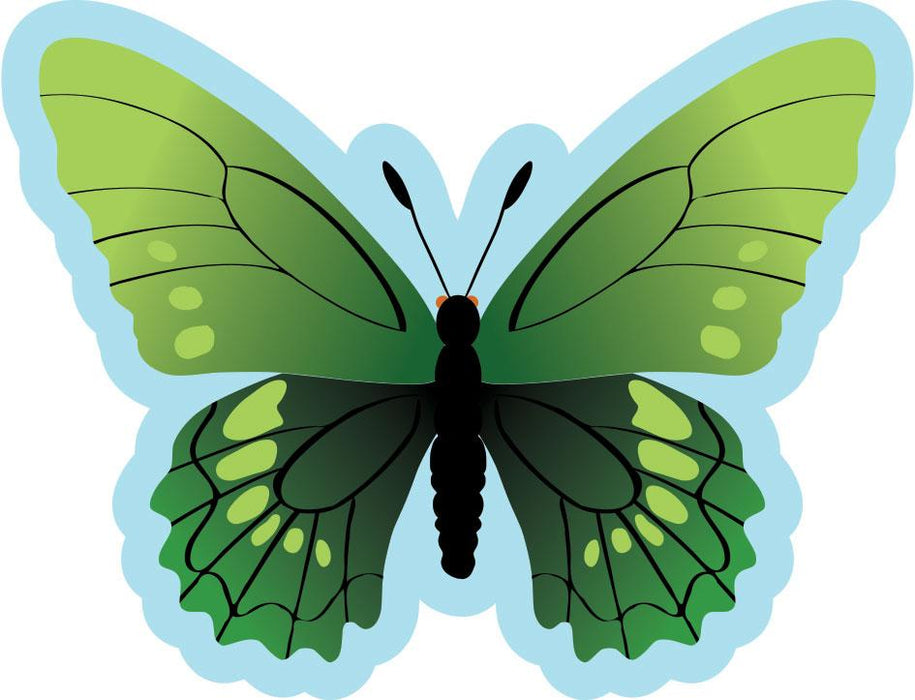 Butterfly Sign  Emerald Green
