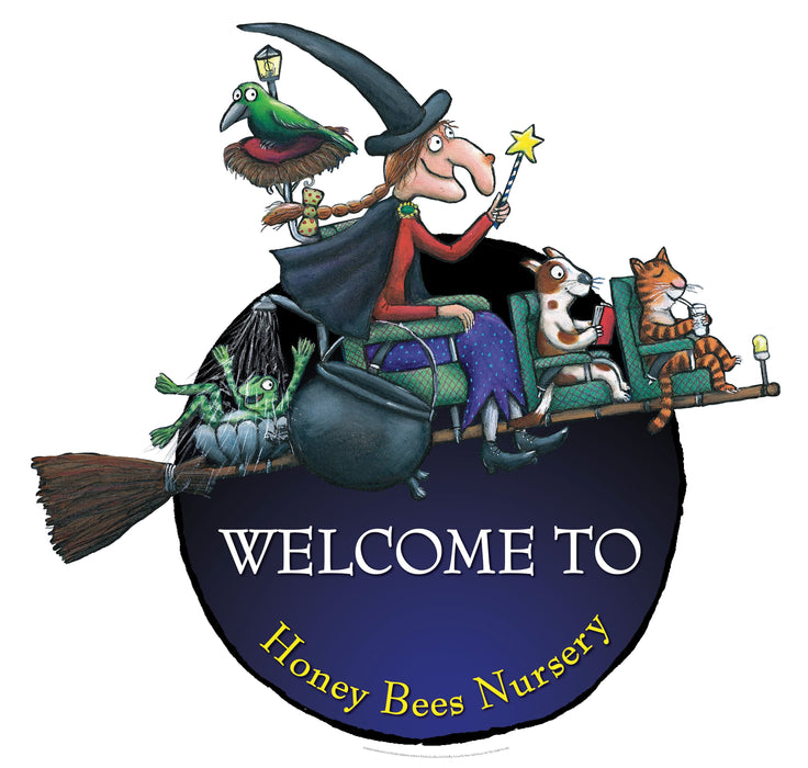 Room on the Broom Circular Welcome Sign