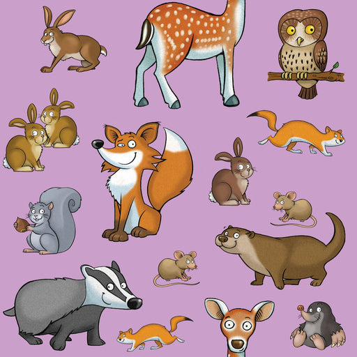Wild Animals Full Colour Window Sticker