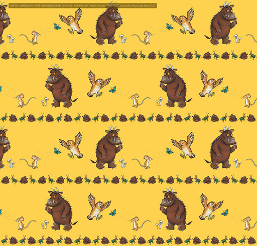 The Gruffalo Yellow Full Colour Window Sticker