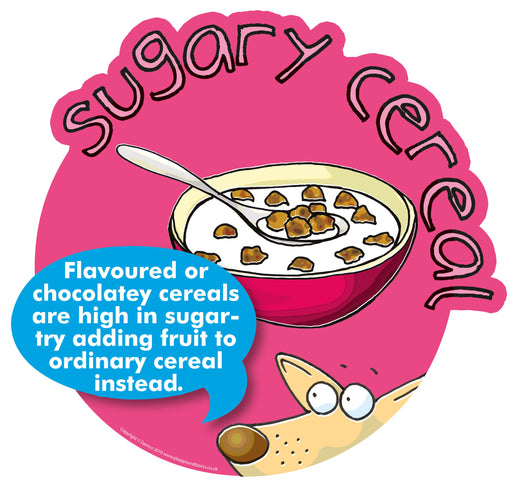 Smarty Food Signs Sugary Breakfast Cereal