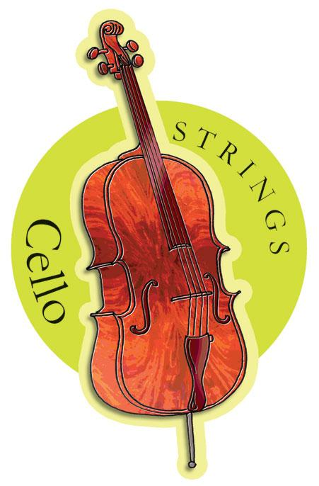 Musical Instruments Shop Signs Cello