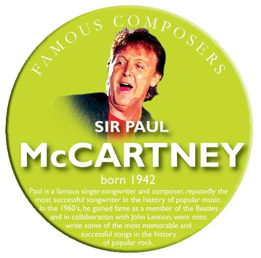 Musical Famous Faces Sir Paul McCartney