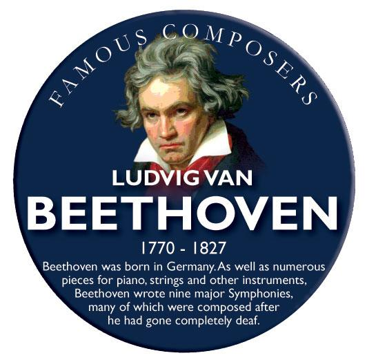 Musical Famous Faces Beethoven
