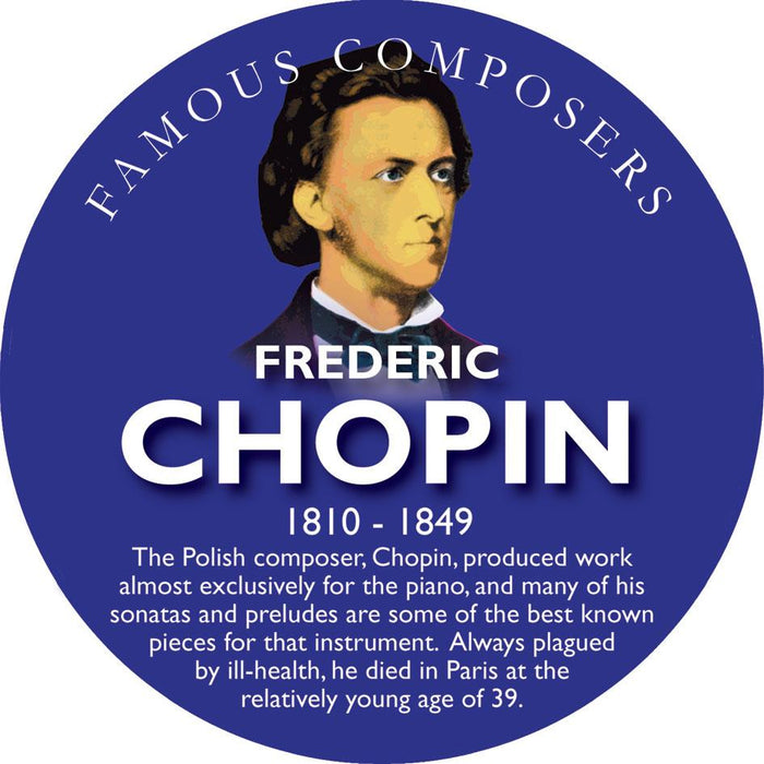 Musical Famous Faces Chopin