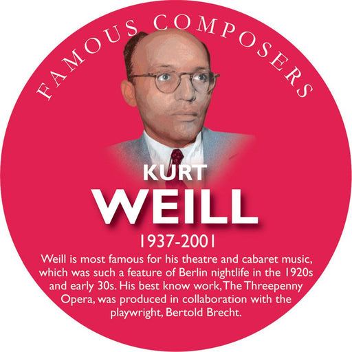 Musical Famous Faces Kurt Weill