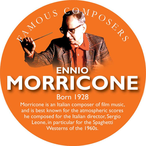 Musical Famous Faces Ennio Morricone