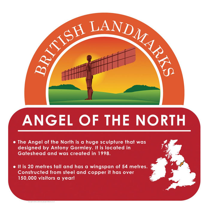 British Landmarks - Angel of the North Sign