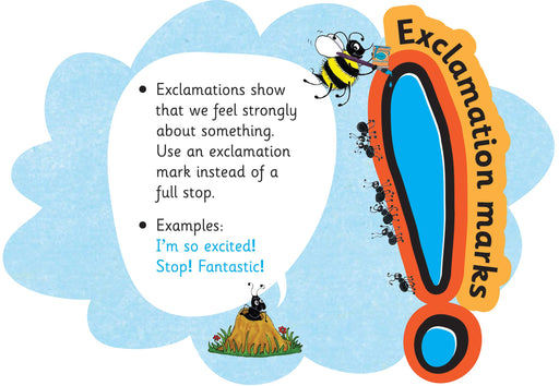 Jolly Phonics Punctuation Clouds Exclamation Marks
