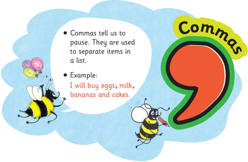 Jolly Phonics Punctuation Clouds Commas
