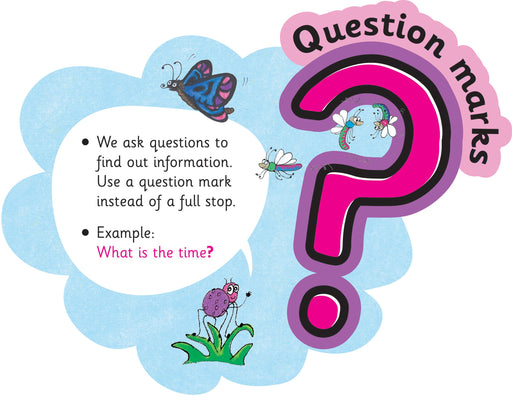 Jolly Phonics Punctuation Clouds Question Marks