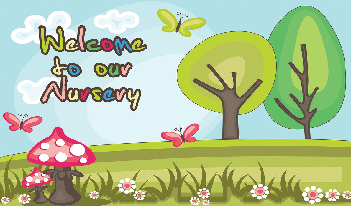 Welcome to Our Nursery Trees Sign