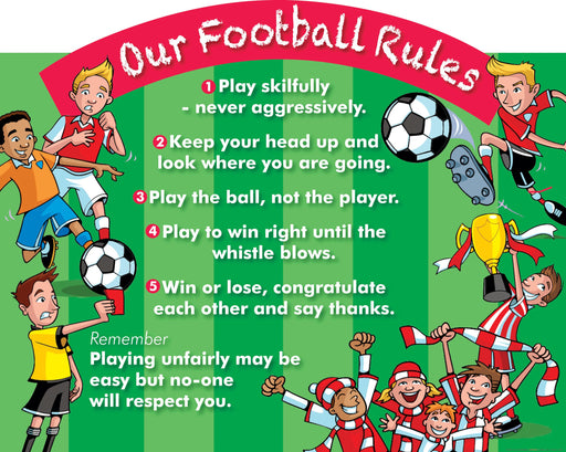 Our Football Rules Sign