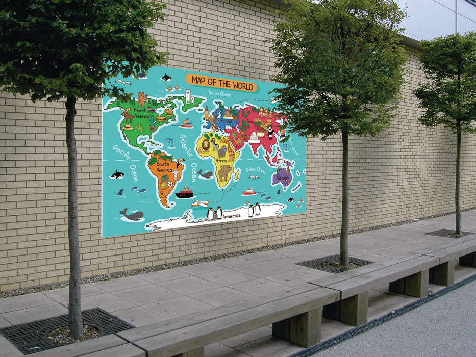Fun Illustrated World Map