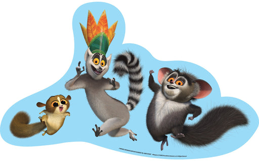 Madagascar Cut-out Mort King Julian and Maurice