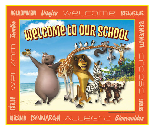 Madagascar School Welcome Sign