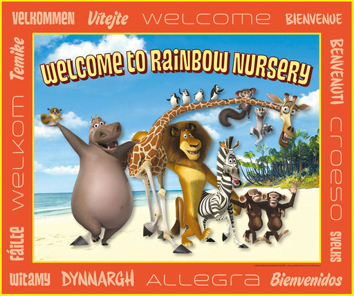Madagascar Nursery Welcome Sign