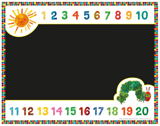 The Very Hungry Caterpillar Number Chalkboard