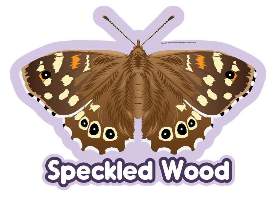 Speckled Wood Butterfly Sign
