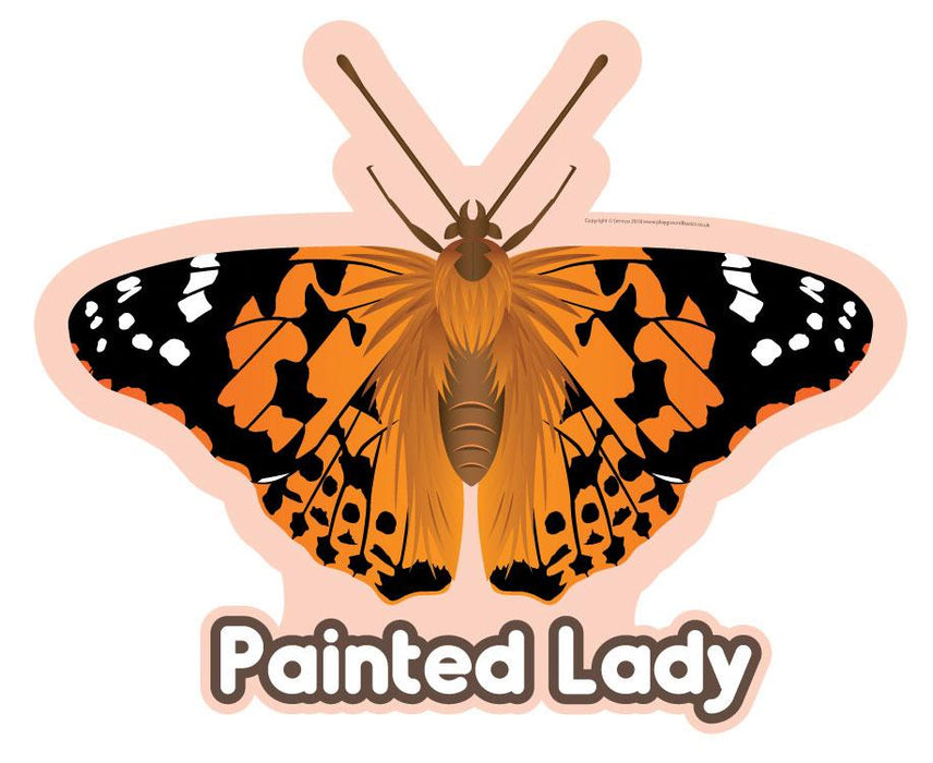 Painted Lady Butterfly Sign