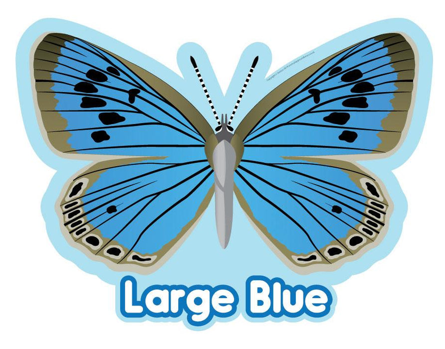 Large Blue Butterfly Sign