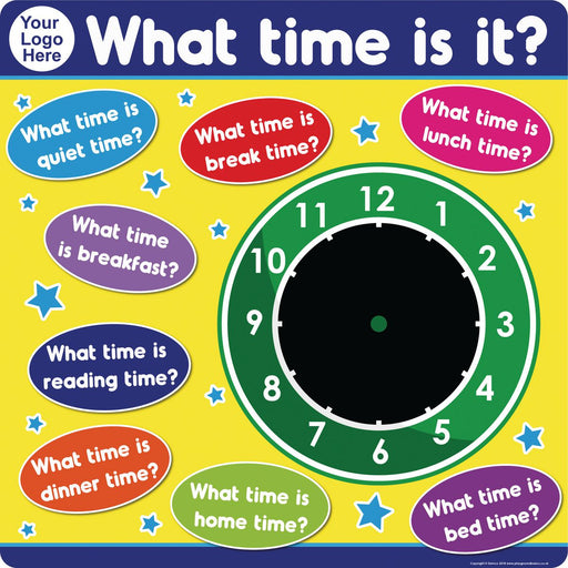 What Time Is It? Personalised Chalkboard Clock