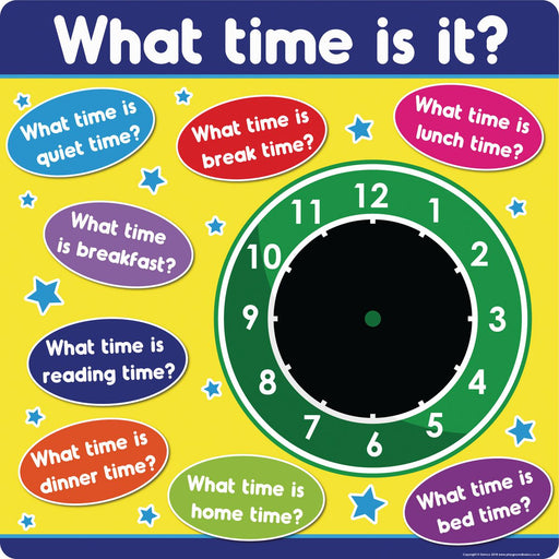 What Time Is It? Chalkboard Clock