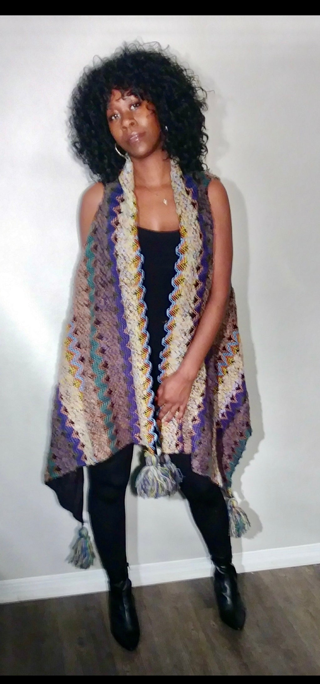 Dream Catcher sweater vest-Lavender