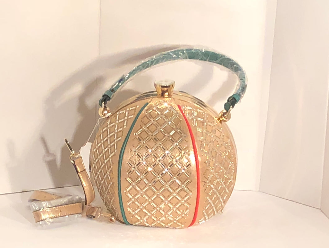 Round Designer Inspired Disco Ball Bag