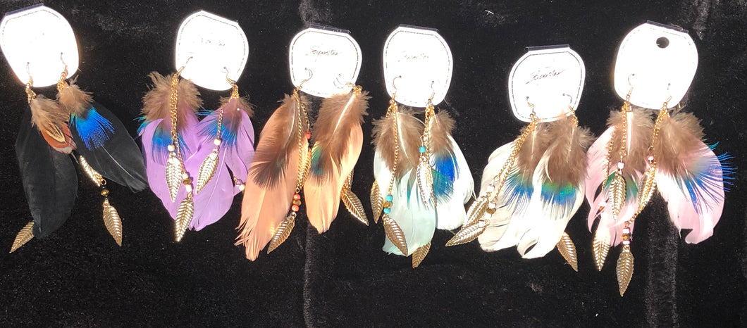 Feather Charm Earrings