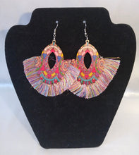 Load image into Gallery viewer, Fringe Ting Earrings-Rainbow