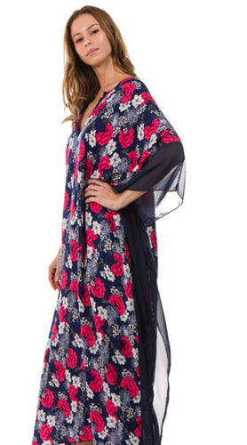 Floral Coverall -Navy