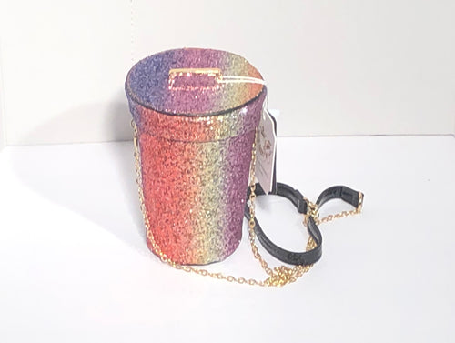 Rainbow Glitter Burst III Bag
