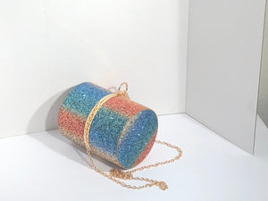 Rainbow Glitter Burst II Bag